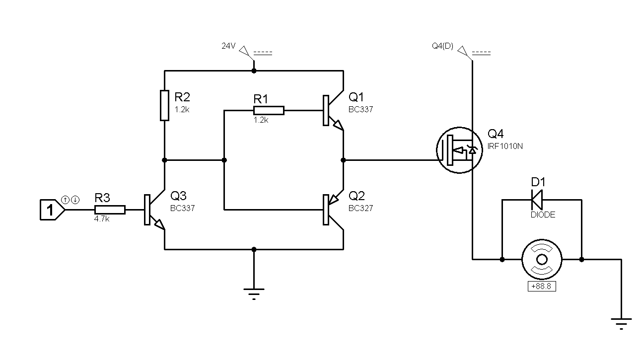 Driving Mosfet With Pull Push Transistor Avr Freaks Emitter Follower Circuit