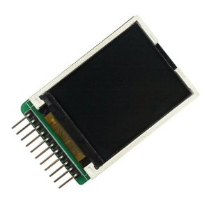 Picture of an 11 pin LCD module with an SD card slot