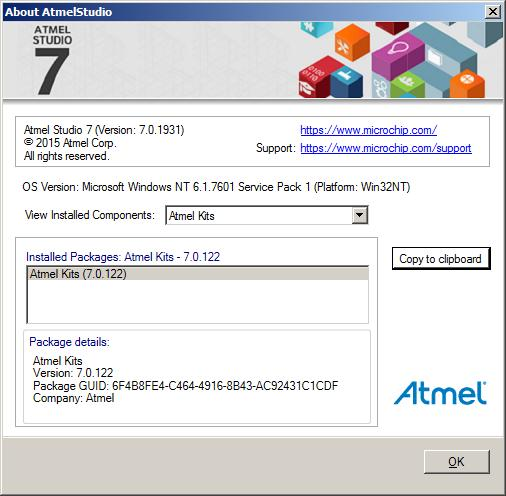 Atmel Studio 7 0 - Unable to get the list of device from