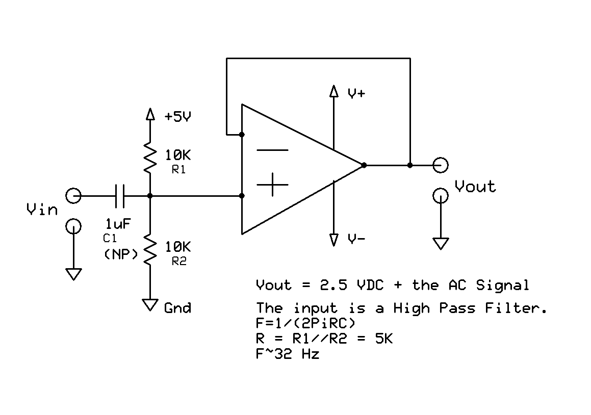 In The Circuit Shown Above Accoupled Amplifier Input A Capacitor How To Remove Dc After An Op Amp Avr Freaks Ac Coupled Ampv2