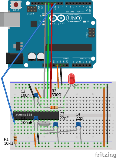 ATMEGA328P with Arduino IDE: Serial communication doesn't