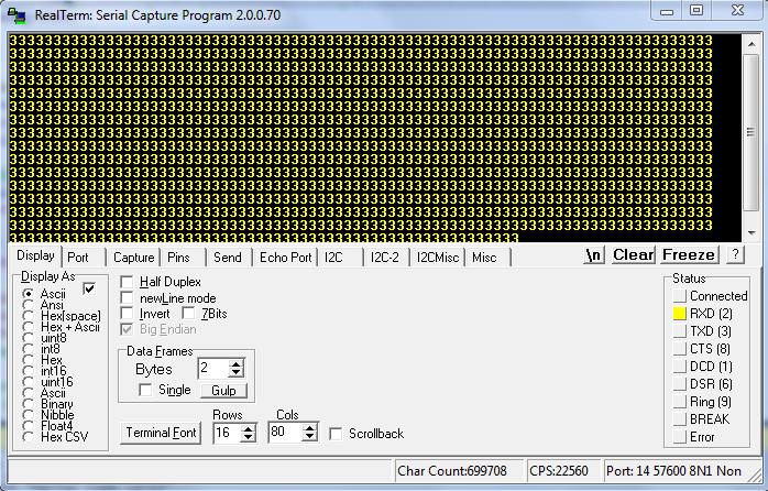 Ascii values displaying as Decimals instead of chars in