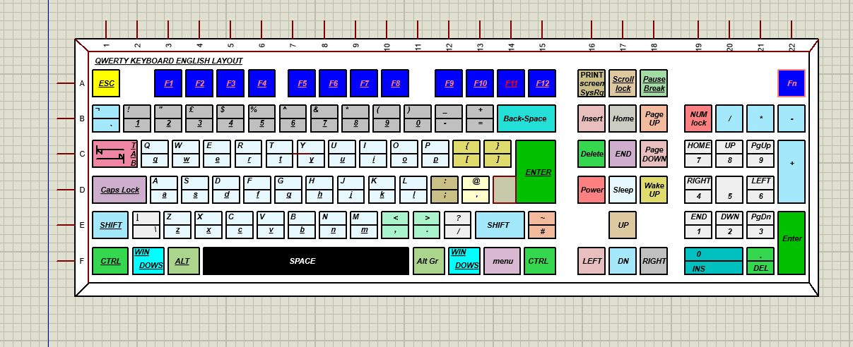 Reading data from complete keyboard in proteus   AVR Freaks