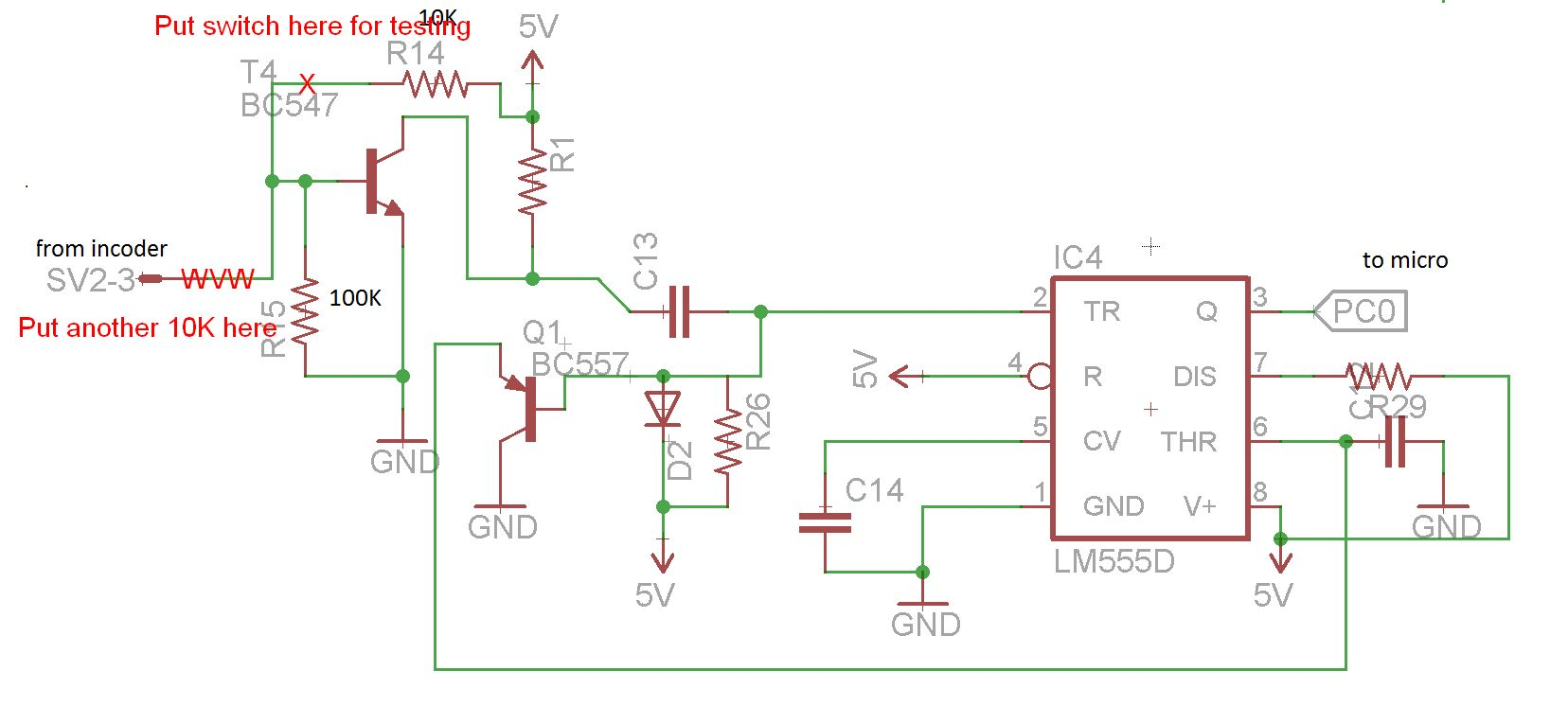 Encoder simple 1 channel to check ac motor stall | AVR Freaks