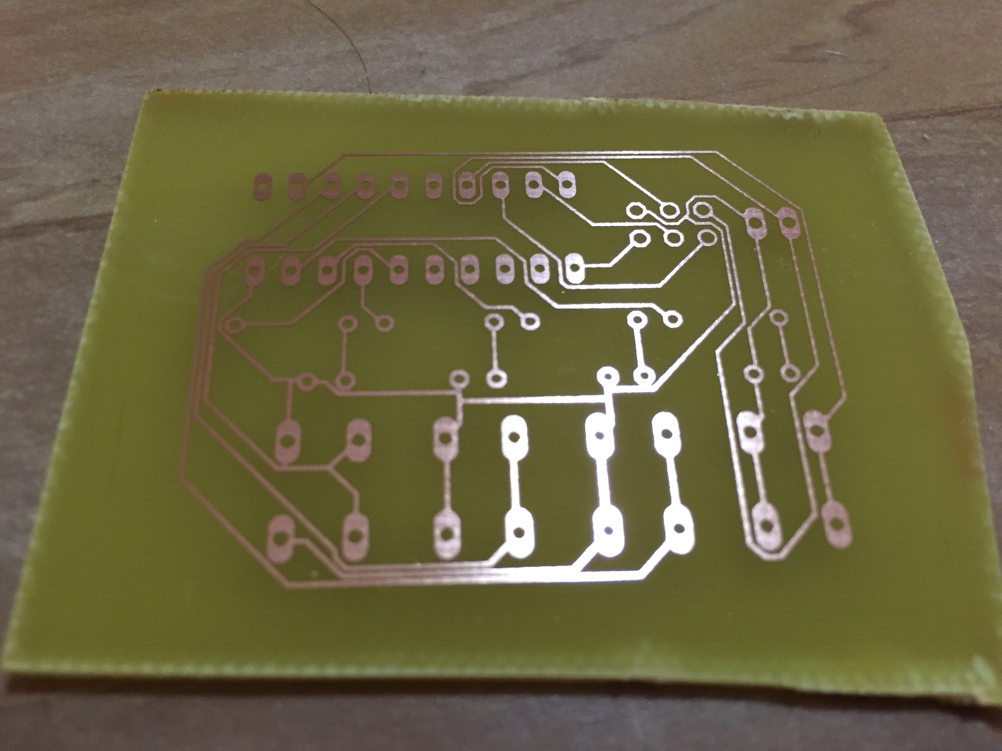 Attiny2313 Check Out My First Working Circuit Board Avr Freaks How To A Heres The After Etch Process