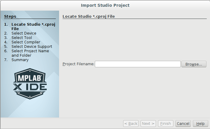 MPLAB Project Import