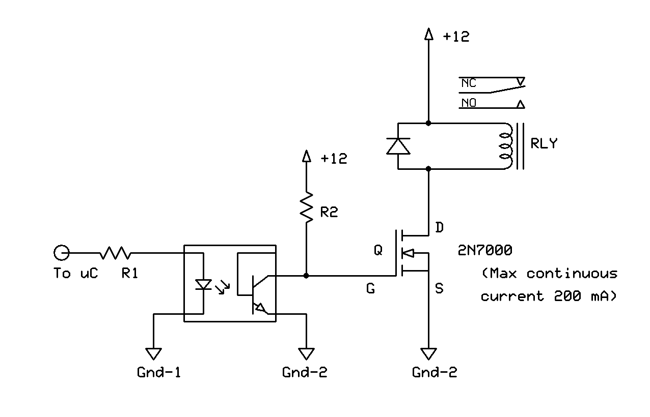 12 Volts Relay Control Circuit Transistor Issue Avr Freaks Current Through Coil Iso Drvr V1
