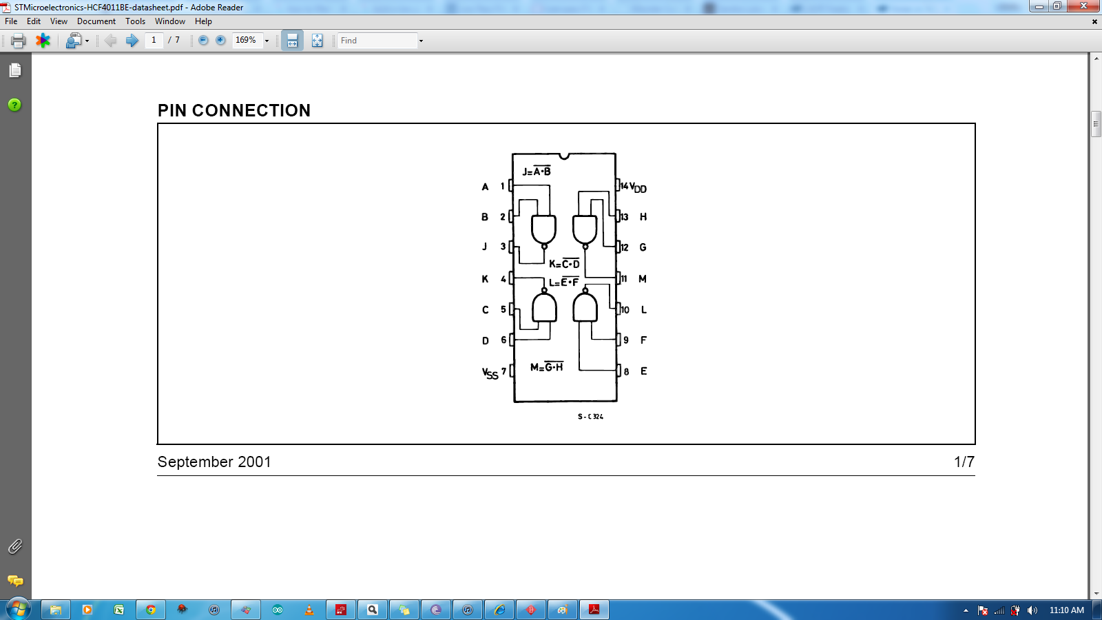 Noise On Nand Gate Output Avr Freaks 15 Pin Vga Pinout Diagram Hd Walls Find Wallpapers Chip