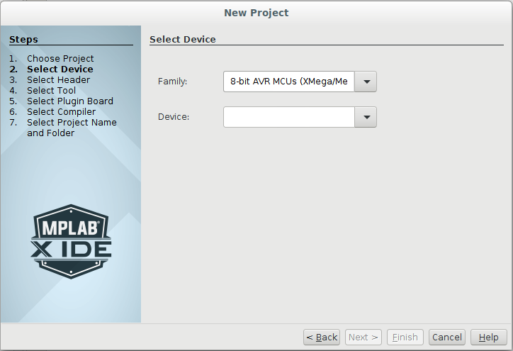 MPLAB with an option for projects using AVR micors