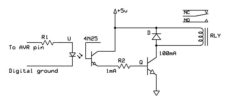 Controlling Relay With Optocoupler Resistor Confusion