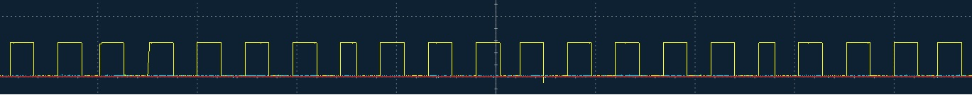 Uneven signal from pin.