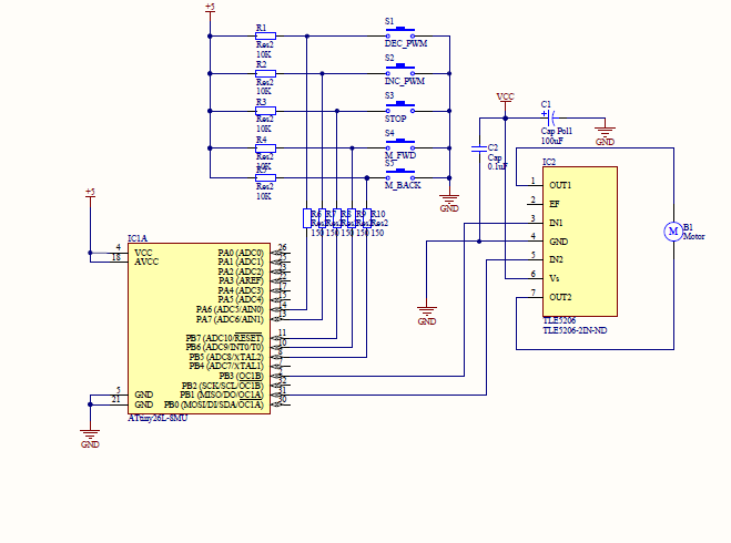 experience of h bridge infineon tle5206? avr freaksschematic for attiny26 and pwm with tle5206 h bridge