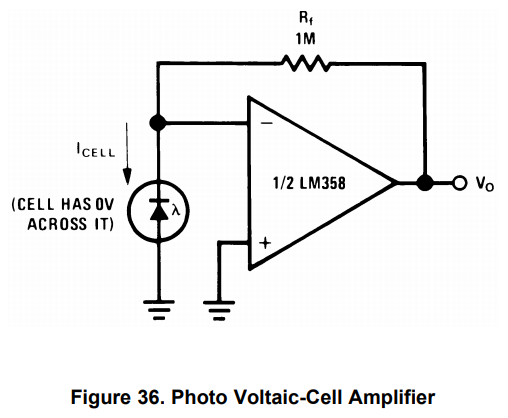 Photodiode op amp circuit trouble | AVR Freaks