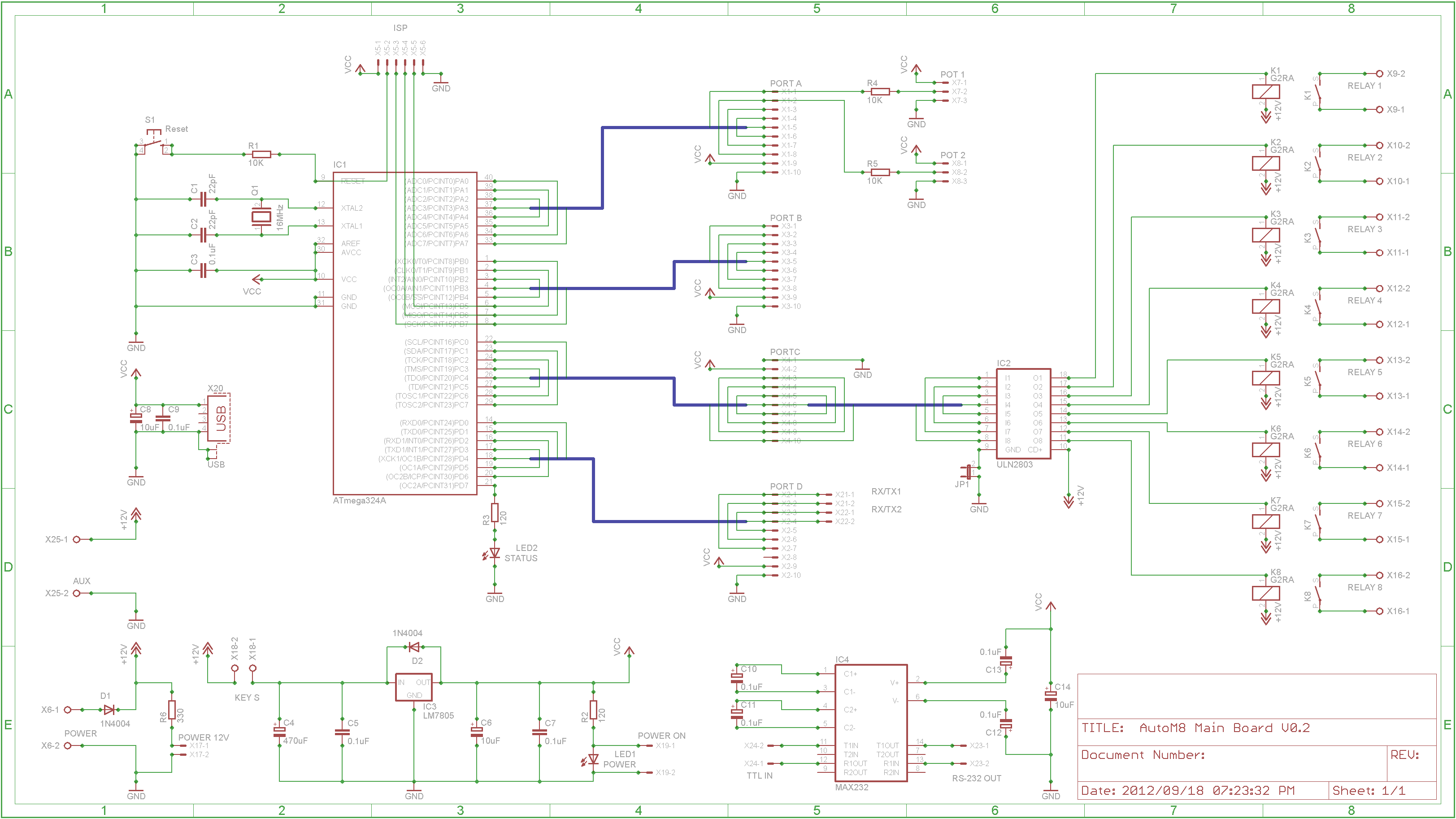 Atmega8l Port State Affects Output Pin Voltage Levels