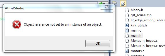 Object reference not set to and instance of an object