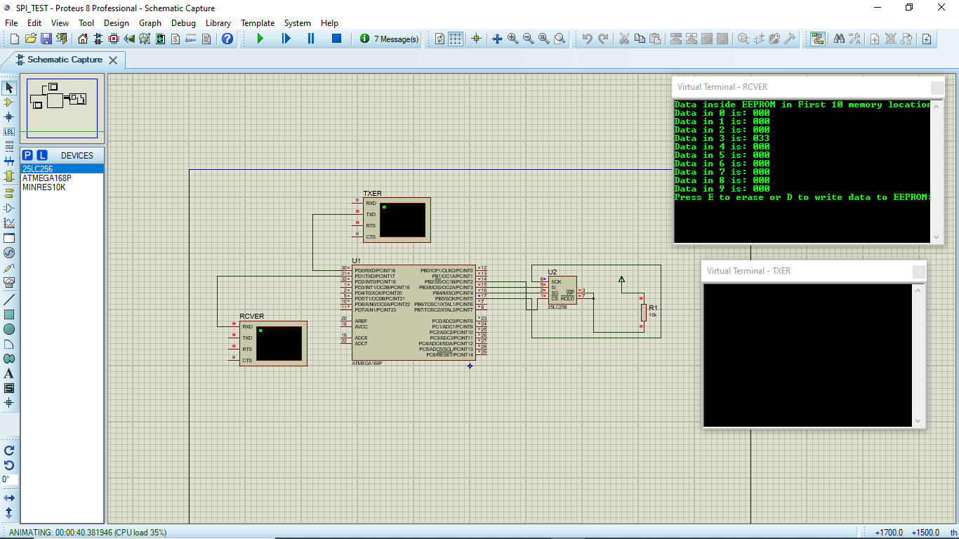 Problem with simulataneous working of SPI and UART in ATmega168A