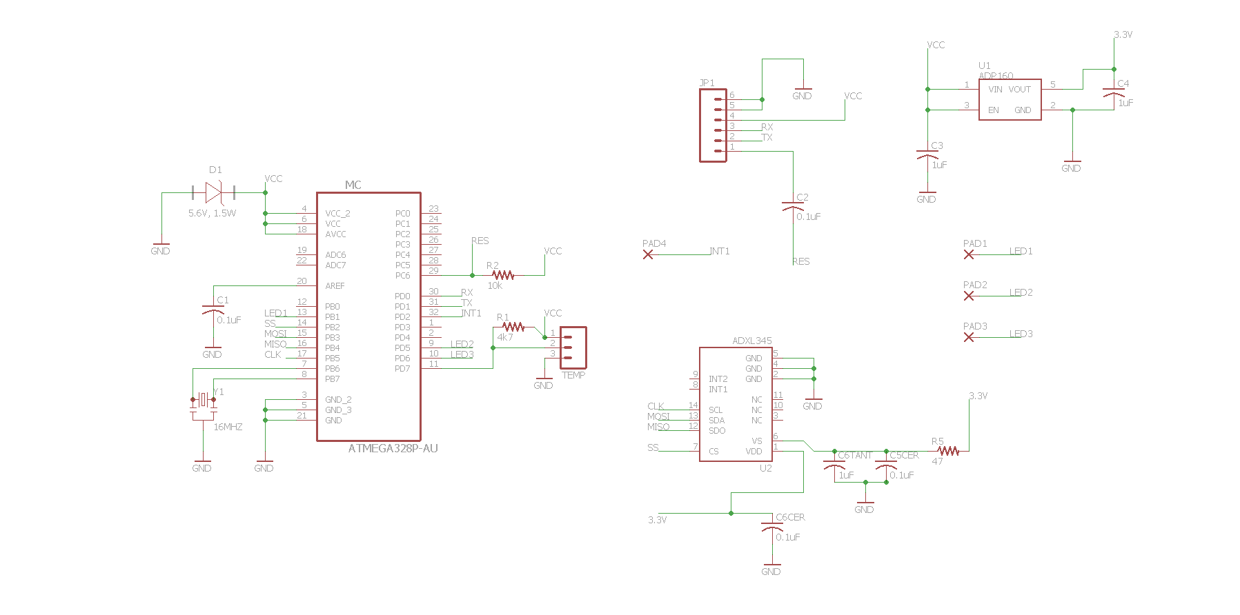 Atmega328p With Adxl345 Avr Freaks Digital Thermometer Schematics Tags