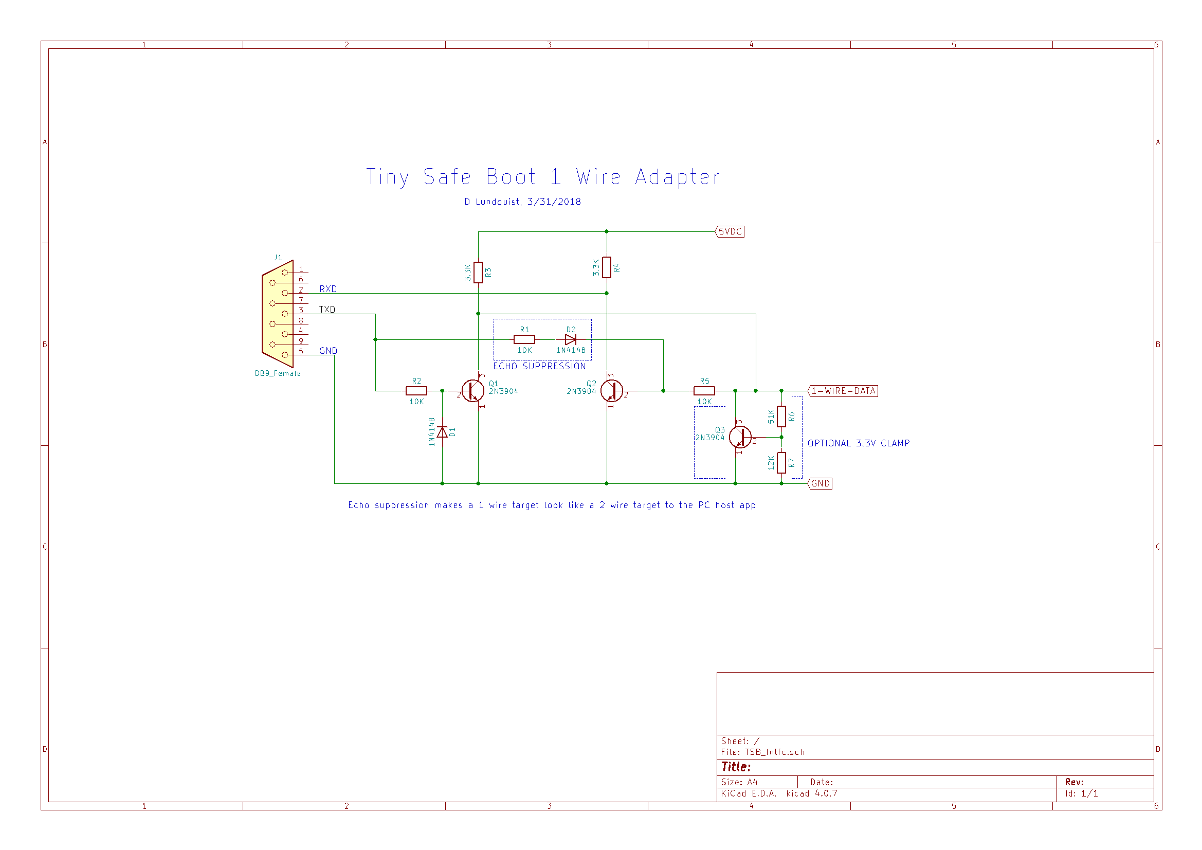 TinySafeBoot 1 Wire Interface Schematic
