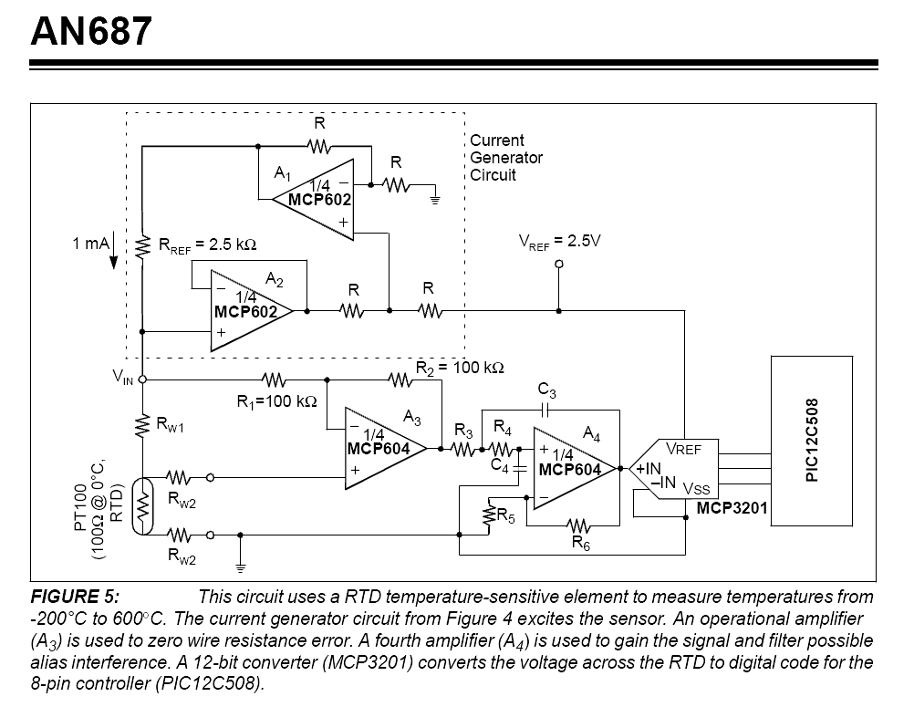 pt100 conditioning circuit avr freaks microchip schematics