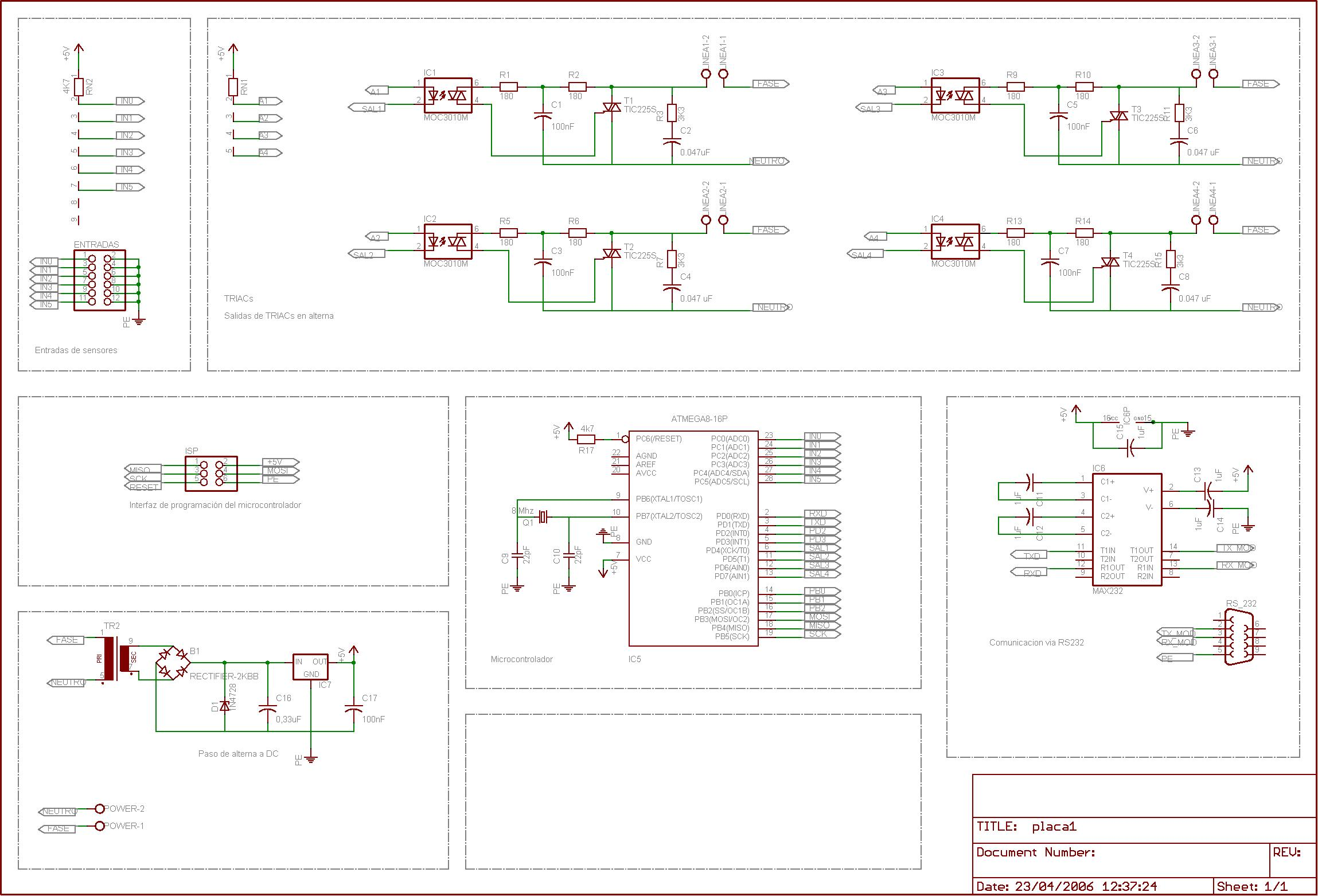 How To Simulate Simple Winavr Code In Proteus Avr Freaks Arduino Led Circuit Simulation Using Atmel Studio And This Is I Used With Isisexe