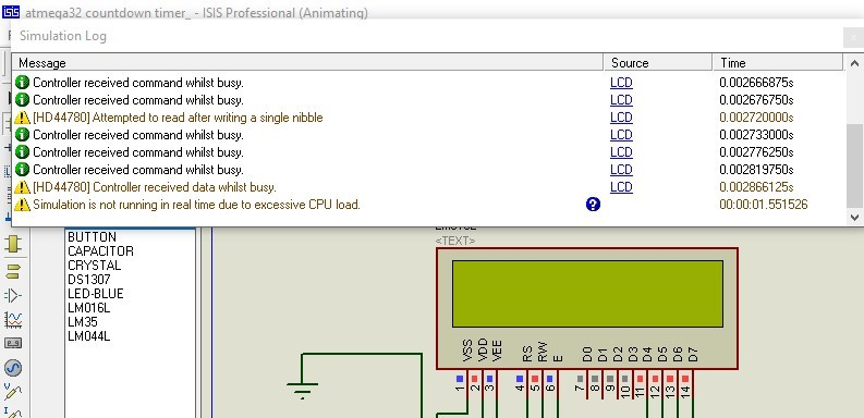 LCD controller received command when busy