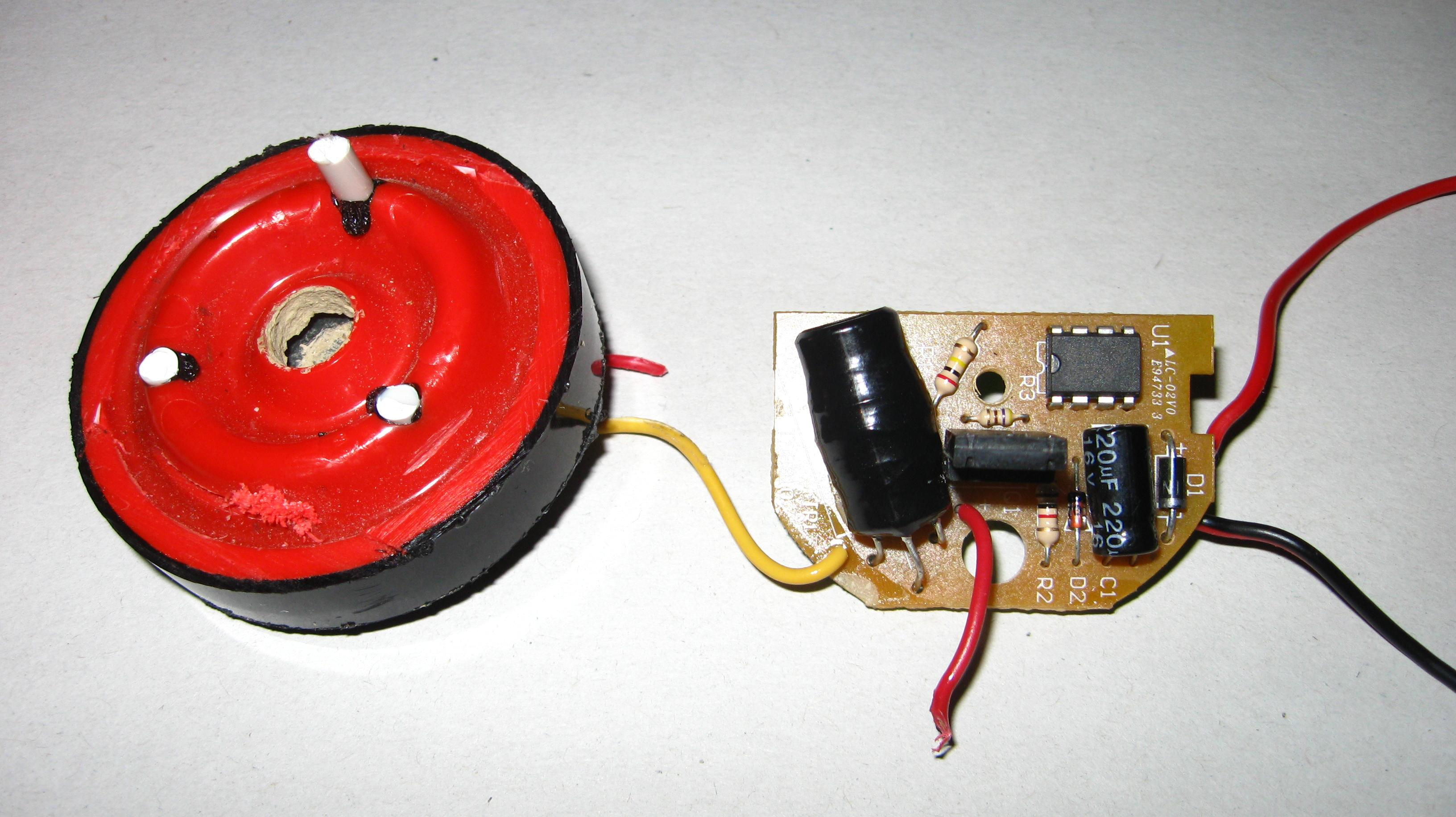 Modifying 120 Db Siren For Driving It With C Avr Freaks Driver Wiring Circuit