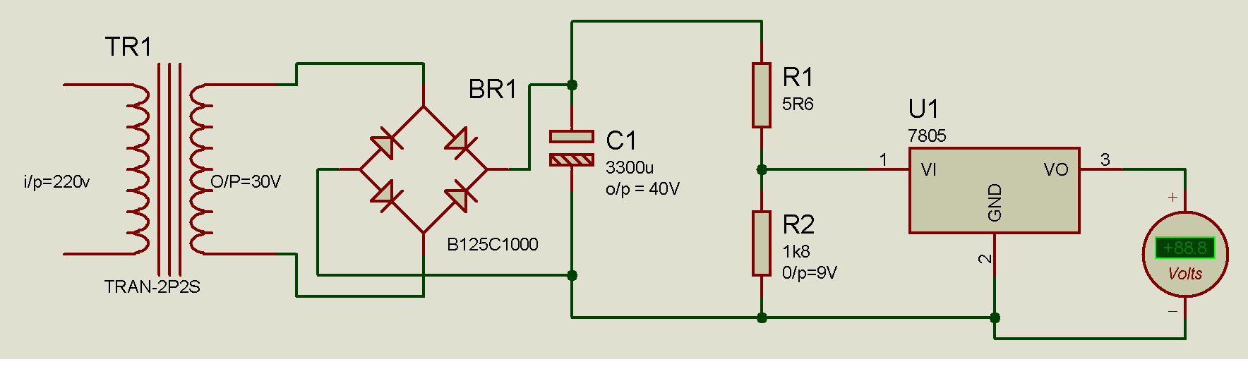 When Connected The Voltage Divider Network To 7805 Circuits Can Be Used Anywhere A Power Zener Diode Function Would 79 1331041547