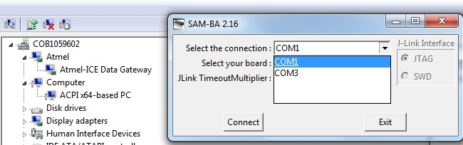 In SAMV71, how to load the binary file into the flash using