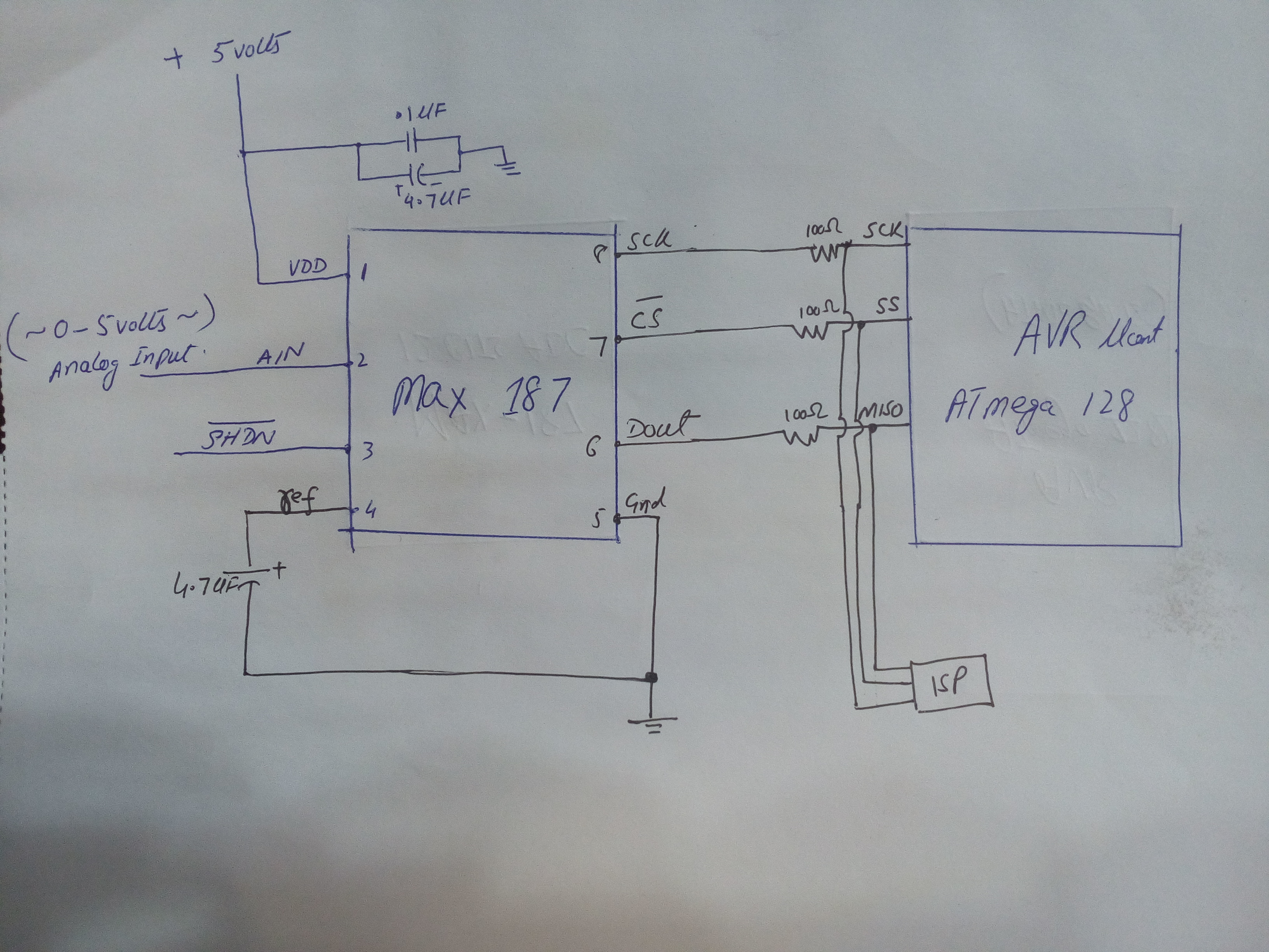 Atmega 128 Interfacing With Max187 12 Bits Adc On Spi Interface The Hardware Is Implemented By Using A Avr Atmega88 Microcontroller Img 20170211 174531