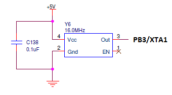 how to connect crystal oscillator to avr
