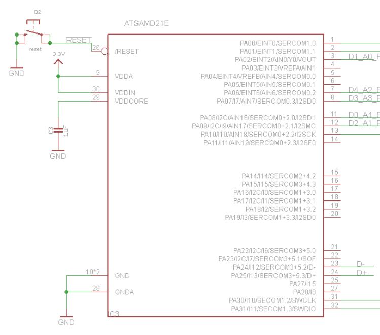 First-time SAMD21E18 basic wiring questions | AVR Freaks