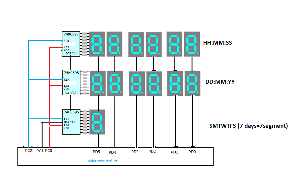 Multiplexing 3 Rows 6 Columns 7