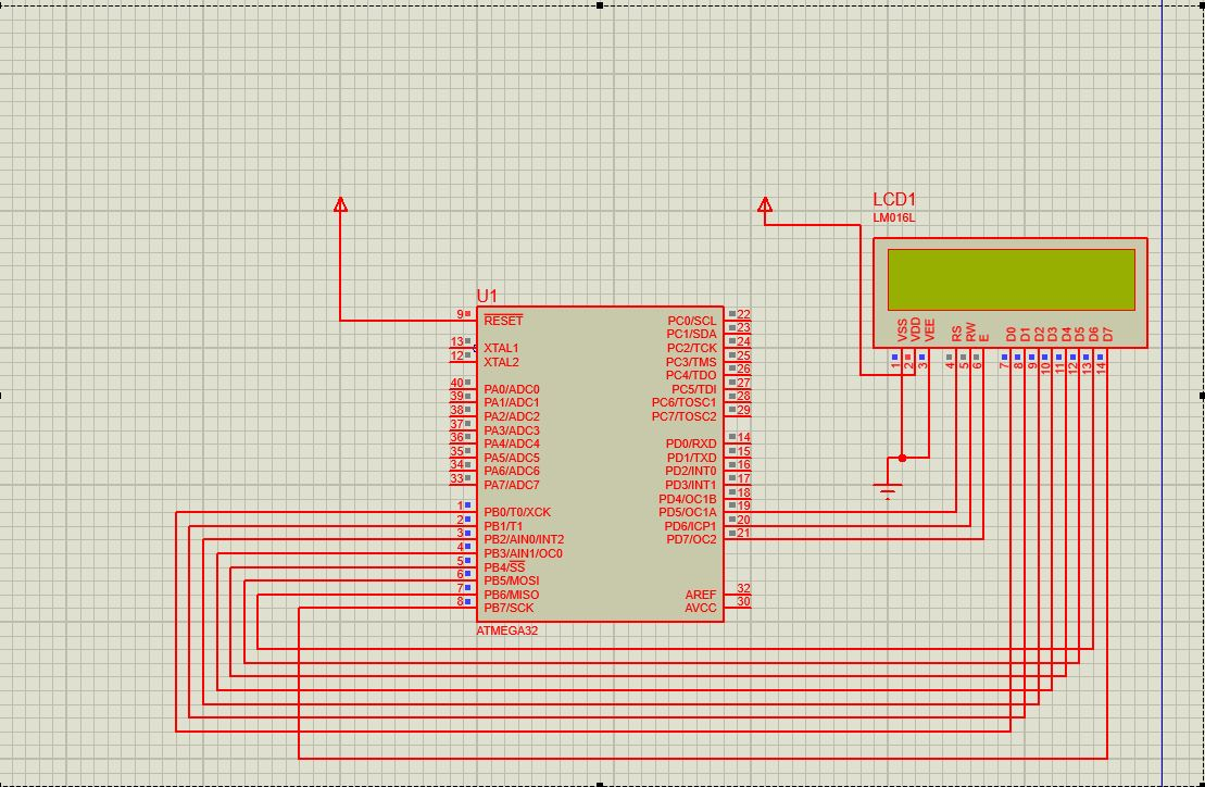 16x2 Lcd Interfacing With Atmega32 Avr Freaks Electronic Circuits And Diagram
