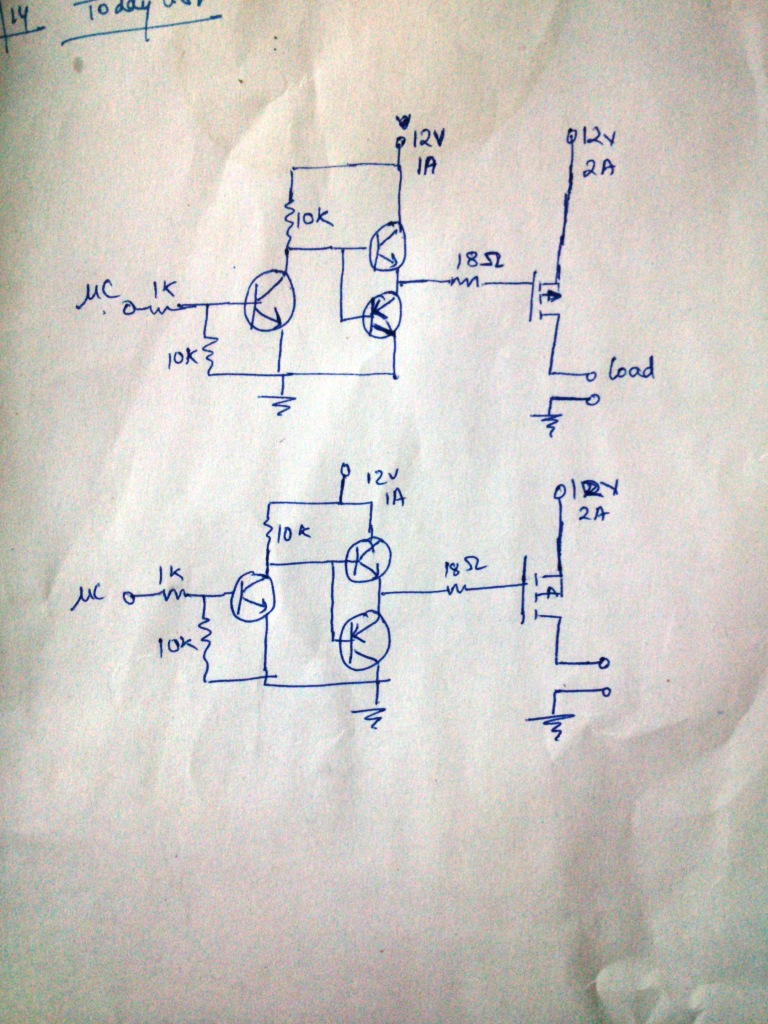 Multiple P Channel Mosfet For Switching Grounded Load Avr Freaks Circuit Diagram
