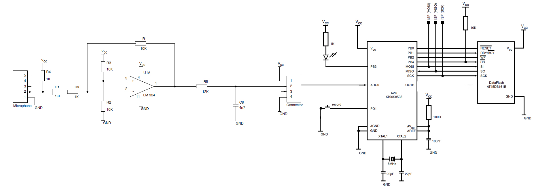 Sound Recorder Using Microcontroller Avr Freaks Voice And Playback Circuit Schematic