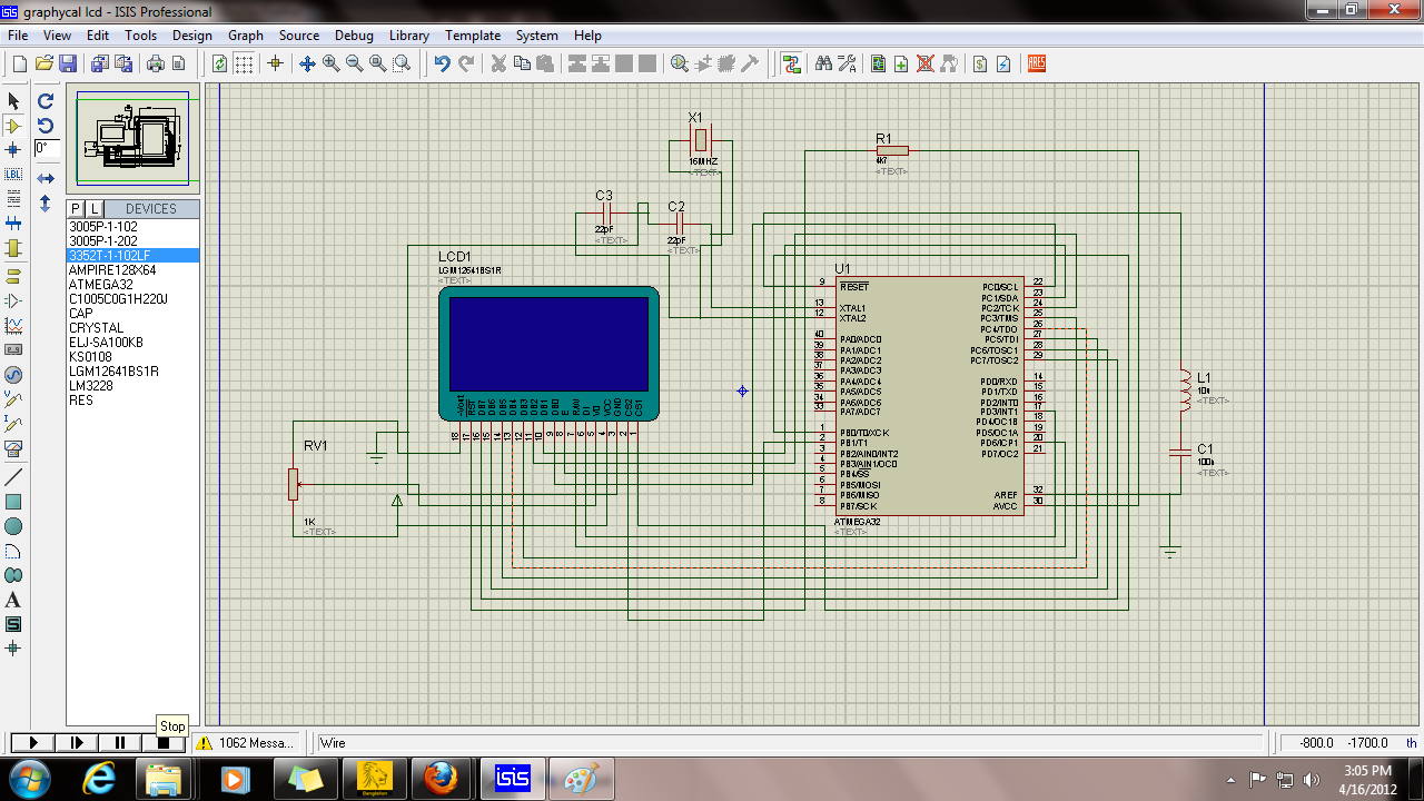 Need help in graphycal lcd interfacing in atmega32 | AVR Freaks