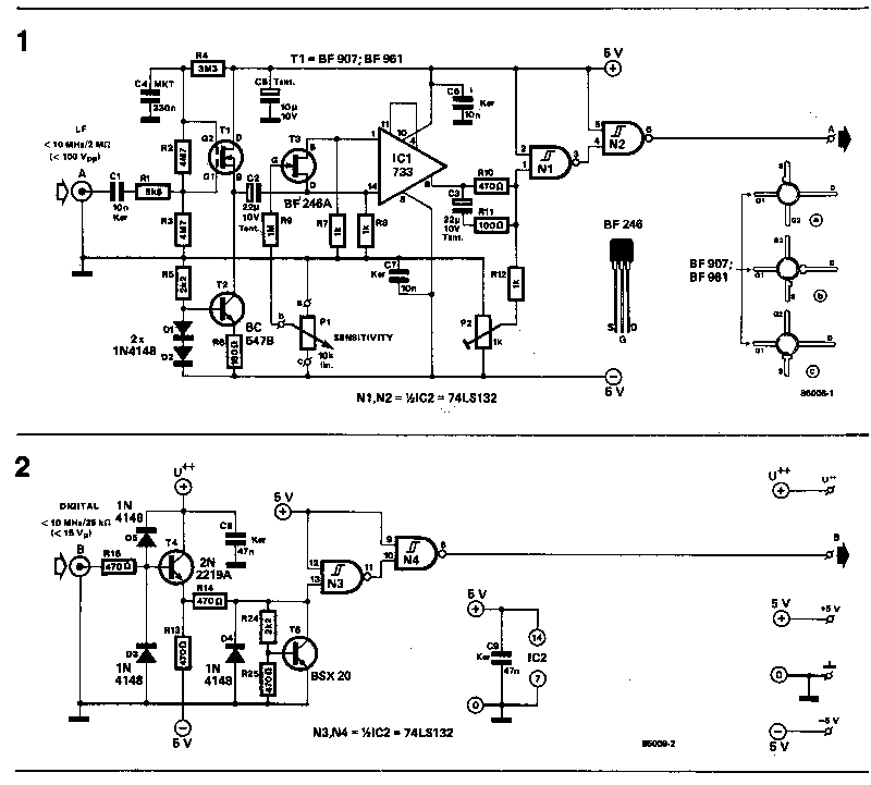 input stage for frequency counter