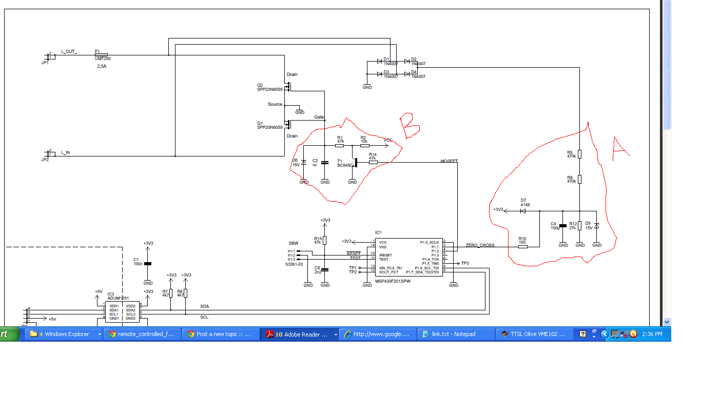 Reverse Phase Control Dimmer Based On Cool Mosfet Transisor Avr Freaks Chandelier Wiring Diagram