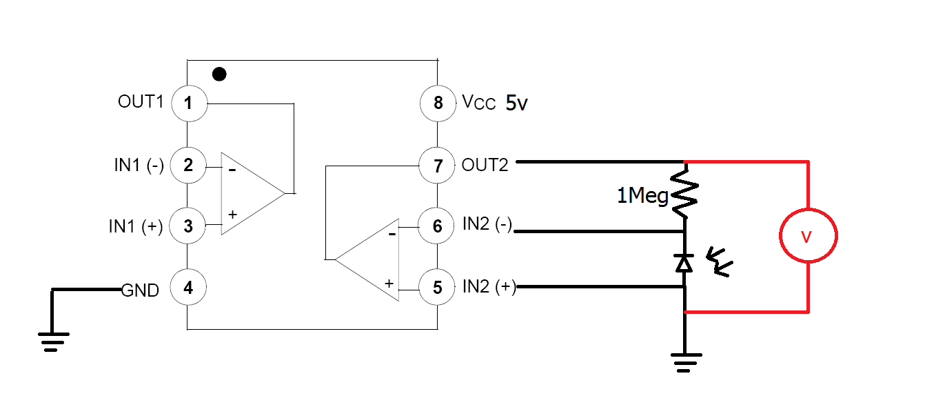 photodiode op amp circuit trouble