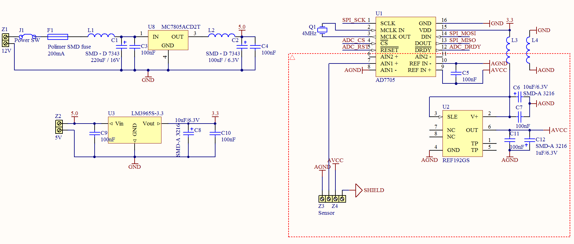 16bit ADC measurements powered from car +12V | AVR Freaks