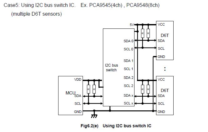 how to connect two d6t thermal sensors