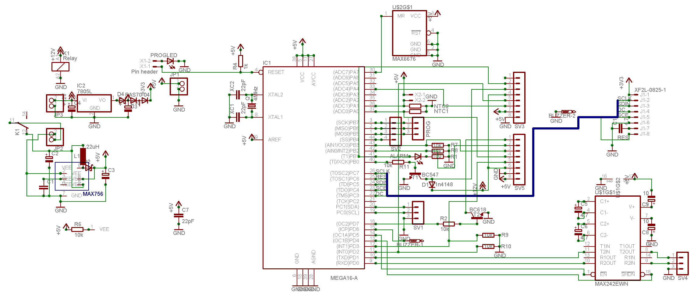 Max232 Eagle Schematic All Kind Of Wiring Diagrams Datasheet Avr Board Checkup Freaks Rh Avrfreaks Net Rs 232 Data Sheet Interface