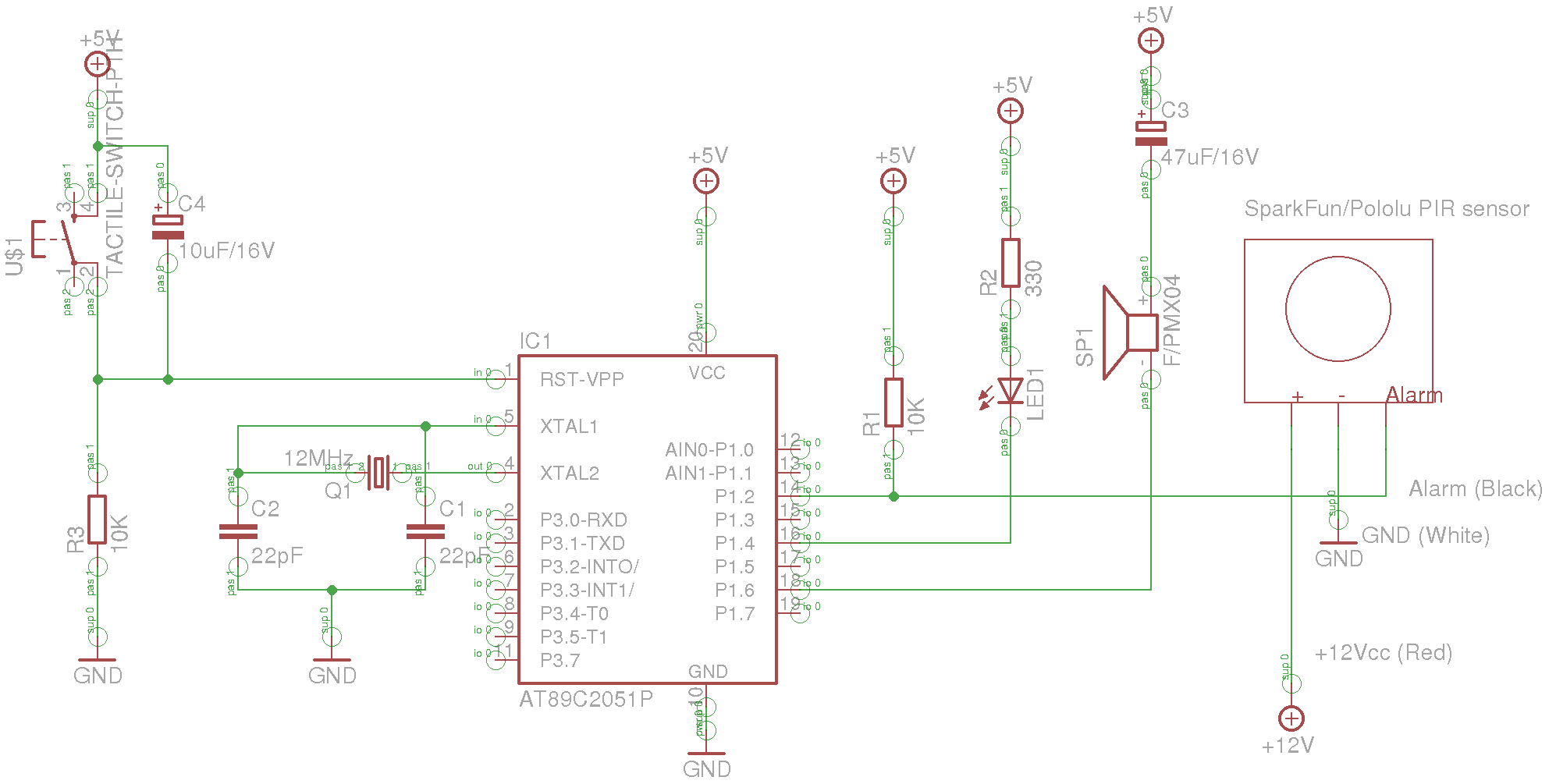 Problem with alarm system for atmel 89c2051 avr freaks note please pay attention that the sensor requires 12vcc on pin if there is only a single source of 5vcc you should consider a step up regulator pooptronica Gallery
