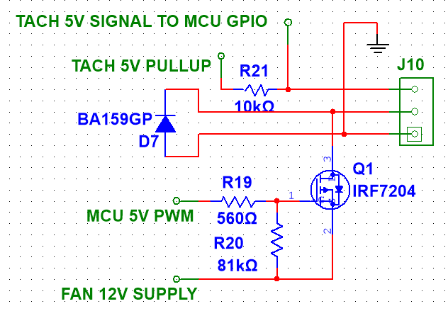 High Side P-FET switch