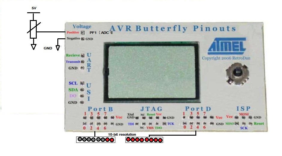 AVR erfly ADC + voltage mesurement | AVR Freaks